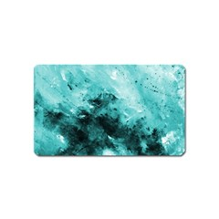 Turquoise Abstract Magnet (name Card)