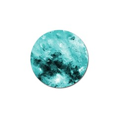 Turquoise Abstract Golf Ball Marker (10 Pack)