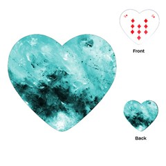 Turquoise Abstract Playing Cards (heart)
