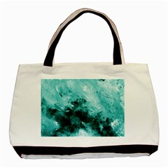 Turquoise Abstract Basic Tote Bag