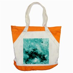 Turquoise Abstract Accent Tote Bag