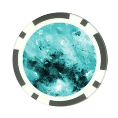 Turquoise Abstract Poker Chip Card Guards