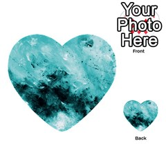 Turquoise Abstract Multi Purpose Cards (heart)