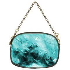 Turquoise Abstract Chain Purses (two Sides)