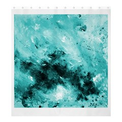 Turquoise Abstract Shower Curtain 66  x 72  (Large)