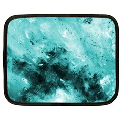 Turquoise Abstract Netbook Case (xxl)