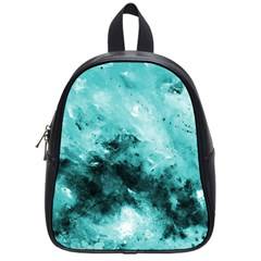 Turquoise Abstract School Bags (small)