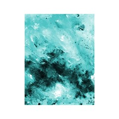 Turquoise Abstract Shower Curtain 48  x 72  (Small)