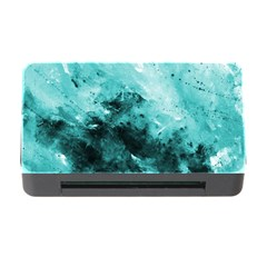Turquoise Abstract Memory Card Reader With Cf