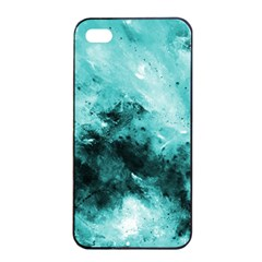 Turquoise Abstract Apple iPhone 4/4s Seamless Case (Black)