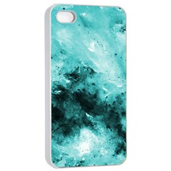 Turquoise Abstract Apple Iphone 4/4s Seamless Case (white)