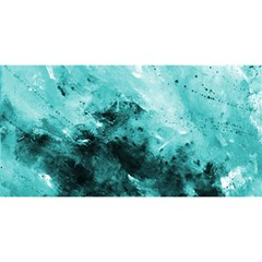 Turquoise Abstract You Are Invited 3d Greeting Card (8x4)