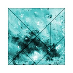 Turquoise Abstract Acrylic Tangram Puzzle (6  x 6 )