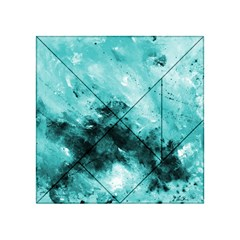 Turquoise Abstract Acrylic Tangram Puzzle (4  x 4 )