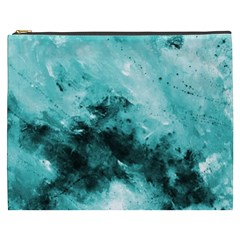 Turquoise Abstract Cosmetic Bag (XXXL)