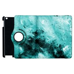 Turquoise Abstract Apple Ipad 2 Flip 360 Case