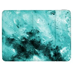 Turquoise Abstract Samsung Galaxy Tab 7  P1000 Flip Case