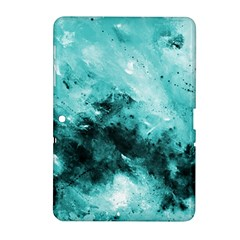 Turquoise Abstract Samsung Galaxy Tab 2 (10 1 ) P5100 Hardshell Case