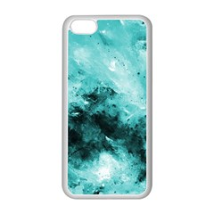Turquoise Abstract Apple Iphone 5c Seamless Case (white)