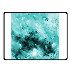 Turquoise Abstract Double Sided Fleece Blanket (Small)