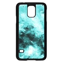 Turquoise Abstract Samsung Galaxy S5 Case (Black)