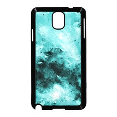 Turquoise Abstract Samsung Galaxy Note 3 Neo Hardshell Case (Black)