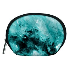 Turquoise Abstract Accessory Pouches (medium)