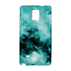 Turquoise Abstract Samsung Galaxy Note 4 Hardshell Case