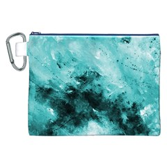 Turquoise Abstract Canvas Cosmetic Bag (XXL)