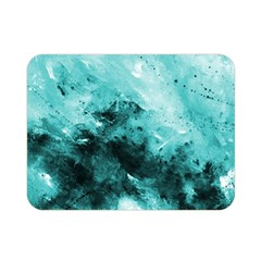 Turquoise Abstract Double Sided Flano Blanket (Mini)