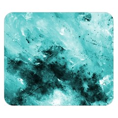 Turquoise Abstract Double Sided Flano Blanket (small)