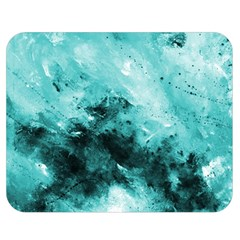 Turquoise Abstract Double Sided Flano Blanket (Medium)