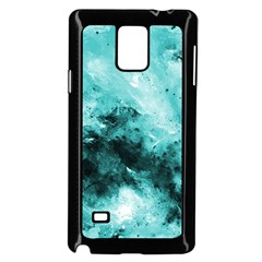 Turquoise Abstract Samsung Galaxy Note 4 Case (Black)