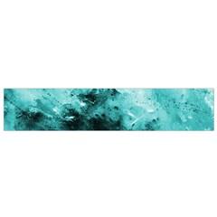 Turquoise Abstract Flano Scarf (Small)