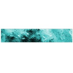 Turquoise Abstract Flano Scarf (Large)