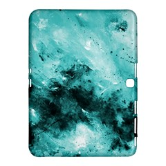 Turquoise Abstract Samsung Galaxy Tab 4 (10.1 ) Hardshell Case
