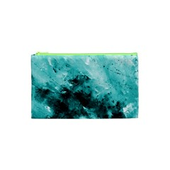Turquoise Abstract Cosmetic Bag (XS)