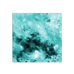 Turquoise Abstract Satin Bandana Scarf