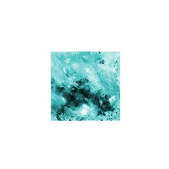 Turquoise Abstract Satin Wrap