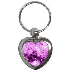 Bright Pink Abstract Key Chains (heart)