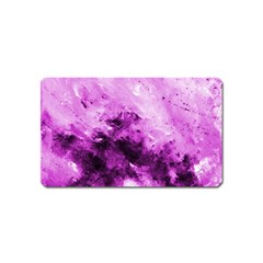 Bright Pink Abstract Magnet (name Card)