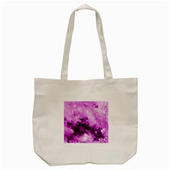 Bright Pink Abstract Tote Bag (Cream)