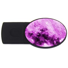 Bright Pink Abstract Usb Flash Drive Oval (4 Gb)