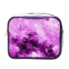 Bright Pink Abstract Mini Toiletries Bags