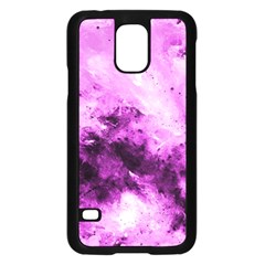 Bright Pink Abstract Samsung Galaxy S5 Case (black)