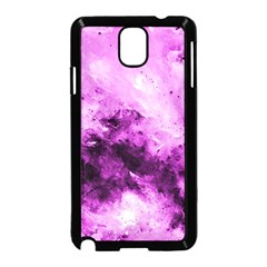 Bright Pink Abstract Samsung Galaxy Note 3 Neo Hardshell Case (Black)