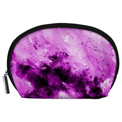 Bright Pink Abstract Accessory Pouches (large)