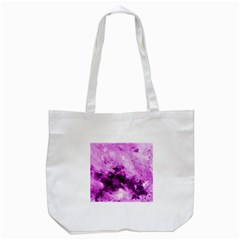 Bright Pink Abstract Tote Bag (white)