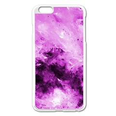 Bright Pink Abstract Apple Iphone 6 Plus Enamel White Case