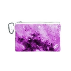 Bright Pink Abstract Canvas Cosmetic Bag (S)